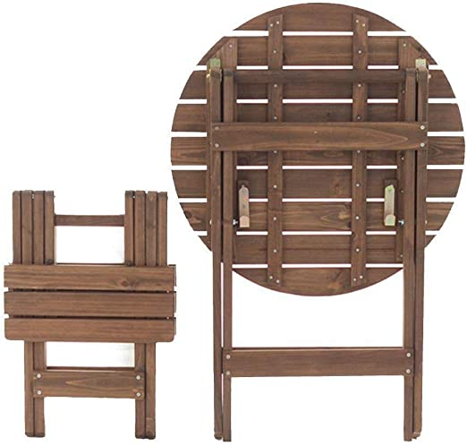 Yqzq Mesa Redonda pequeña y sillas Plegables y portátiles Balcón ...