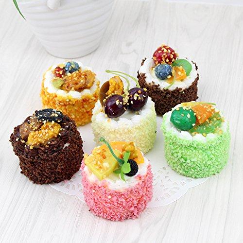 Nice purchase Fake Cake Cupcake Simulation Artificial Food Cake Sprinkle Kitchen Toy Decoration Display Props (Circular)