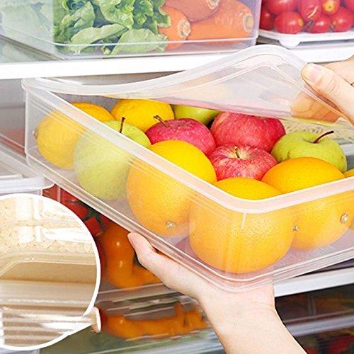 Storage Collecting Box Basket Kitchen Refrigerator Fruit Organiser Rack Y8O5