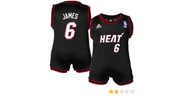 100% authentic a168f 3d66c Amazon.com : NBA adidas Miami Heat #6 LeBron James Infant ...