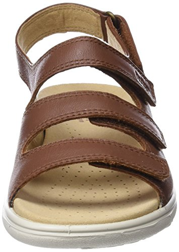 Sophia Sandals Tan Brown Women's Hotter Dk Toe Open HnFqTx54