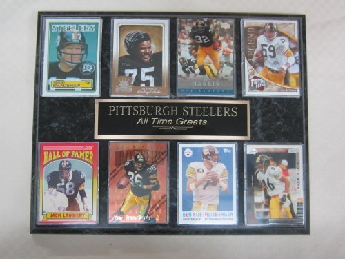 Pittsburgh Steelers All Time Greats 8 Card Plaque
