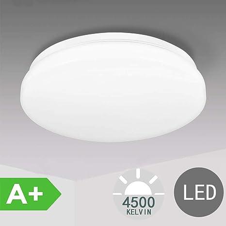 Plafon led de techo,lamparas de techo habitacion,TECKIN 24W Moderna LED Plafón para Baño Dormitorio Cocina Balcón Pasillo Sala de Estar Comedor 2000 ...
