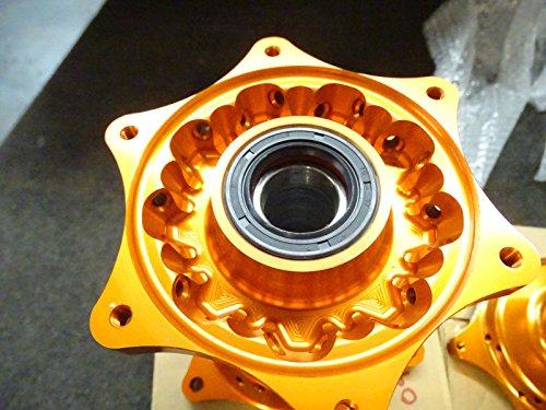TCR Front & Rear Set Wheel Hubs KTM Orange 125 250 300 350 450 525 SX SXF 07-16 by TCR (Image #3)