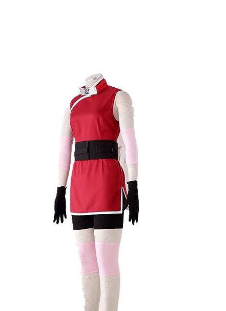 Amazon.com: Love Anime Ninja Shinobi Cosplay Costume-Haruno ...
