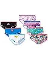 Handcraft Little Girls' Justice League Hipster Underwear (Pack of 7)
