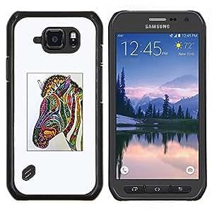 TECHCASE---Cubierta de la caja de protección para la piel dura ** Samsung Galaxy S6 Active G890A ** --Zebra Art Dibujo Acuarela
