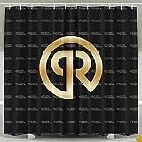 ASJDO Shower Curtains Porter Robinson Gold Logo