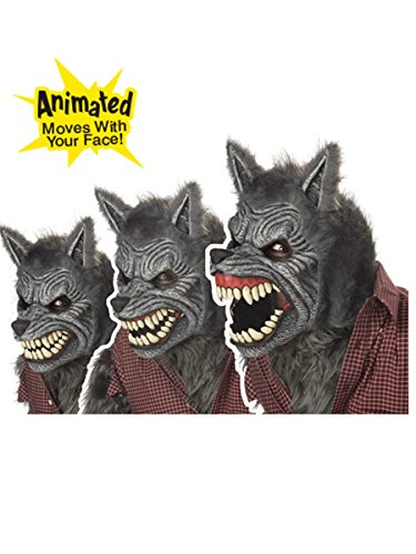 Scary As Hell Wolf Mask - California Costumes Werewolf Mask,Assorted,One