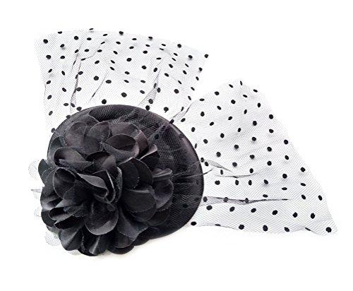 Fascinator Hair Clip Head Hoop Veil Wool Flower Hat Derby Cocktail Party Wedding - Womens Mini Box