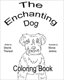 The Enchanting Dog Coloring Book Sherrie Theriault Winnie Jenkins 9781453762912 Amazon
