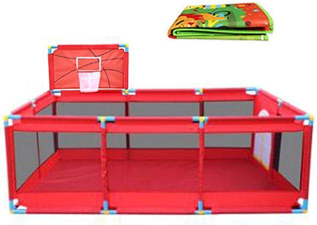 Tela Oxford roja 128 /× 190 /× 66 cm Parque Infantil de Viaje con tapete Baby laufgitter Parque Infantil Extra Grande para Gemelos