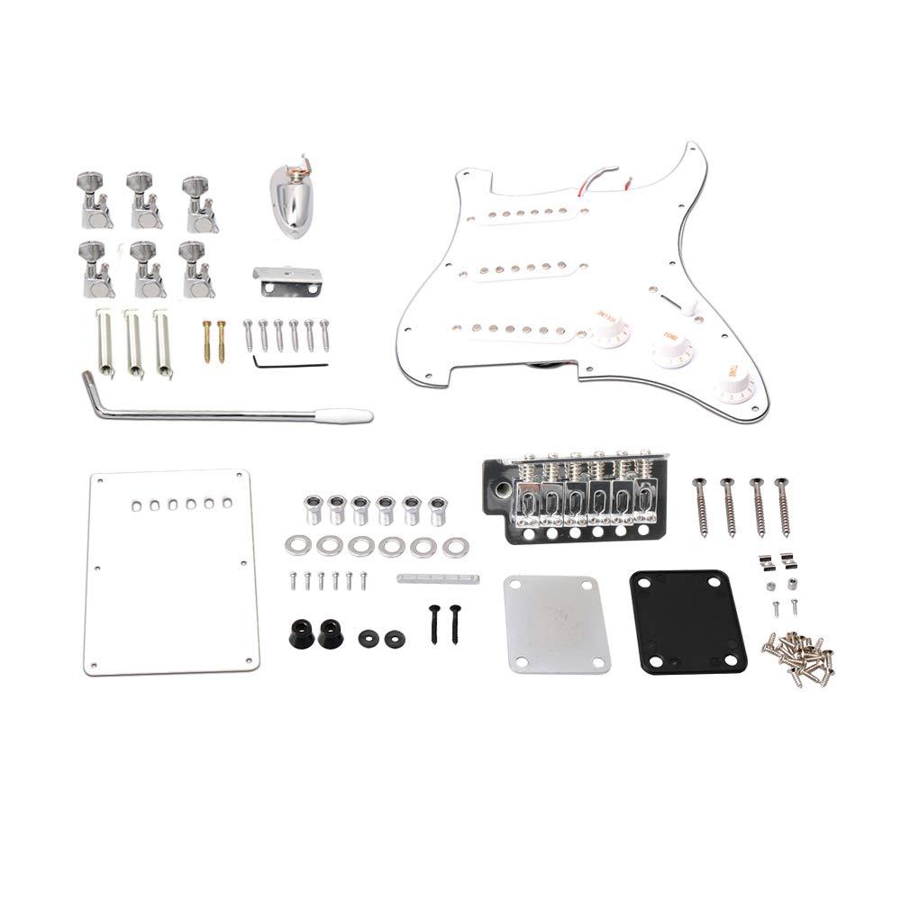 Yibuy - Kit completo de construcción de guitarra eléctrica con ...