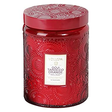 Voluspa Goji & Tarocco Orange Large Glass Jar Candle 100 Hour 16 oz