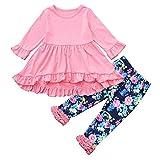Romance8 Long Sleeve Dress + Irregular Pants, Two Piece Top Pants Set