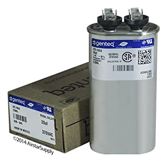 Mars 12014-20 uF MFD x 370 VAC Genteq Replacement Capacitor Oval # C320L 27L1002
