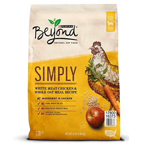 Purina Beyond Natural Limited Ingredient Dry Cat Food; Simply White Meat Chicken & Whole Oat Meal Recipe - 13 lb. Bag
