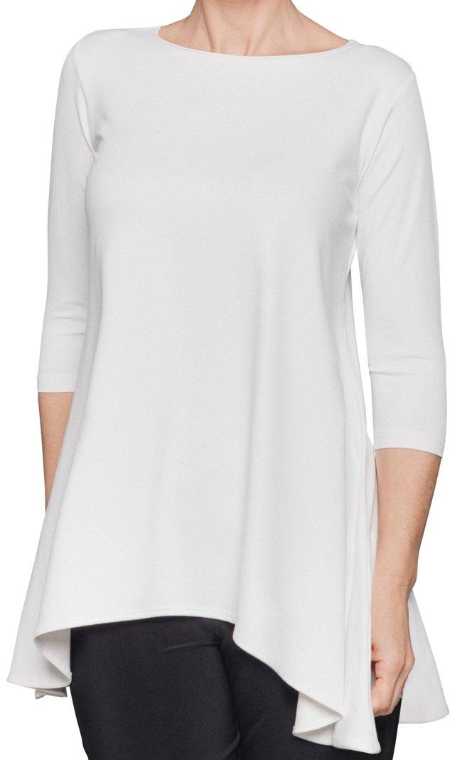 Sympli Womens True-T 3/4 Sleeves Size 10 White