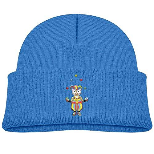 (J.McKain Funny Cat Clown Winter Knitted Hat Soft Fleece Beanie Cap Girls)