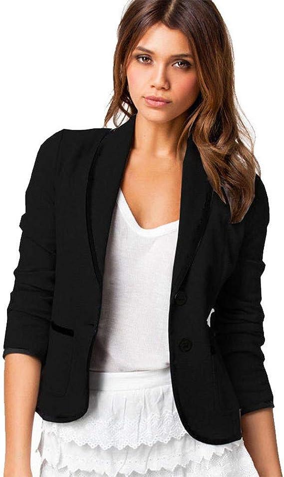 Women Casual Long Sleeve Business Suits Tops Coat Jackets Blazer Outwear