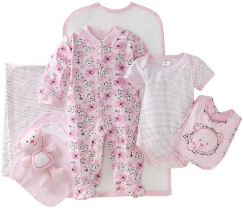 Cutie Pie Baby-girls Newborn Sweetest Bear 9 Piece Set In Garment Bag