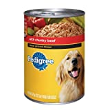 Pedigree Meaty Ground Dinner Stew with Chunky Beef Food for Adult Dogs, 13.2 Ounce Cans (Pack of 12), My Pet Supplies