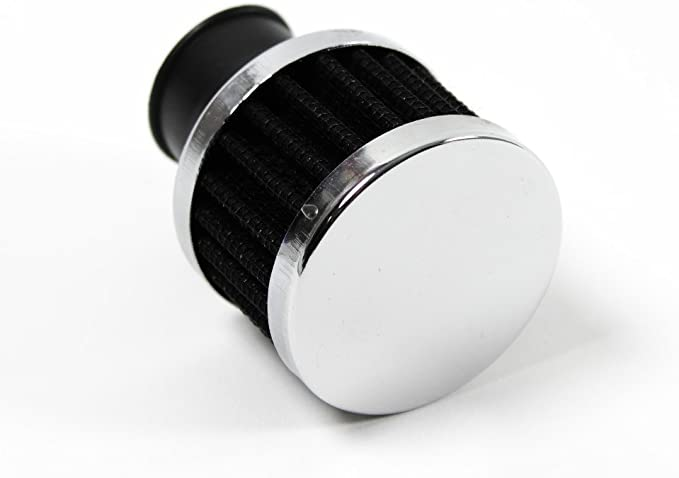 Filter Kurbelgehäuse Entlüftung Chrom 25mm Anschluss Schwarz Edel 1099233 Auto