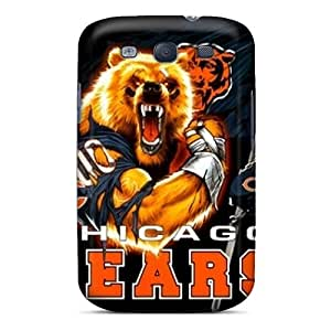 Top10cases Samsung Galaxy S3 Shock Absorbent Hard Phone Cases Support Personal Customs Colorful Chicago Bears Skin [Aej2629VVLP]