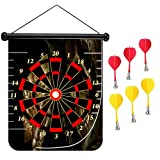 15 inches Magnetic Dart Board Double Sided Hanging Dart Board Set and Bullseye Game! Death Poker