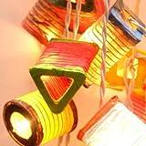 Multicolor Paper Lantern Party String Lights (20/set)