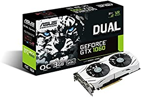 ASUS DUAL-GTX1060-O3G GeForce GTX 1060 3GB GDDR5 - Tarjeta gráfica (NVIDIA, GeForce GTX 1060, 7680 x 4320 Pixeles, 1594 MHz, 1809 MHz, 7680 x 4320 Pixeles)
