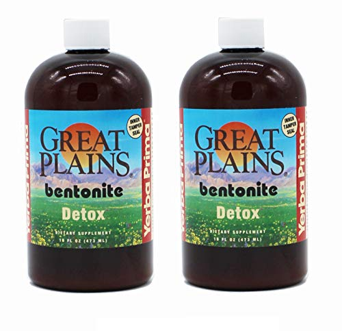 Yerba Prima, Great Plains, Bentonite, Detox, 16 fl oz (473 ml) - 2pc