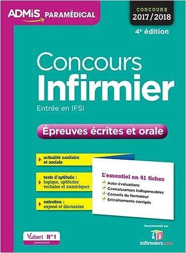 Read Concours Infirmier - Épreuves écrites et orale - L'essentiel en 40 fiches - Concours 2017-2018 epub pdf