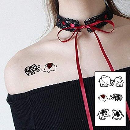 Yangll Pares De Colores Lindo Elefante Amante De La Moda ...