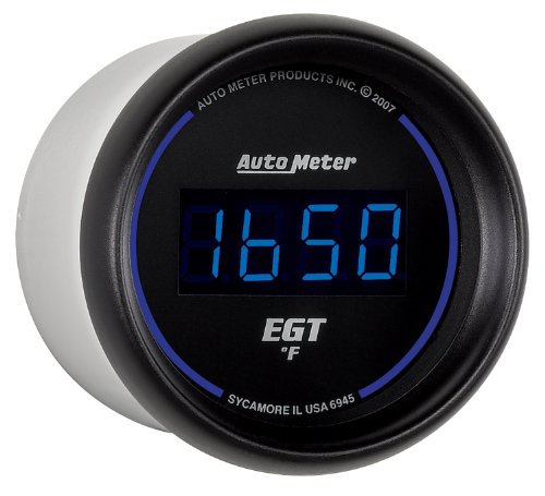 Auto Meter 6945 Cobalt Digital 2-1/16'' 0-2000 F Pyrometer E.G.T. (Exhaust Gas Temperature) by Auto Meter (Image #1)