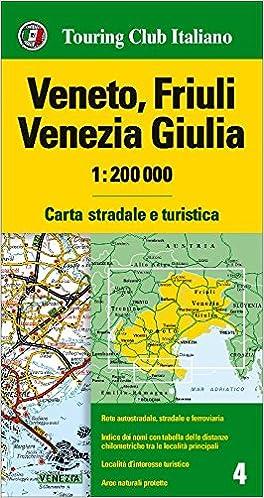 Friaul Venetien Strassenkarte Karte Landkarte Tci Touring Club