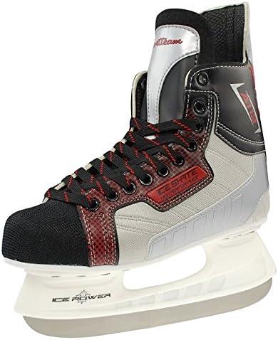 A113 Eishockey Schlittschuhe Black//White,44 Rulyt Sport Team A113/Ice Hockey Skates Men