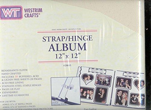 Strap Hinge Album 12x12 Linen