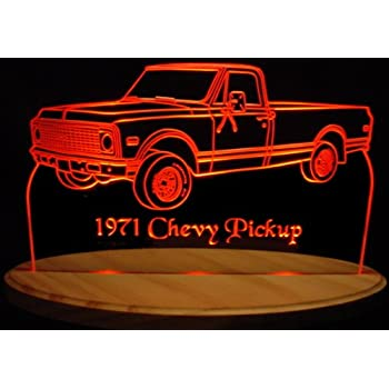 """1977 F150 Pickup Edge Lit 11-13/"""" Lighted Led Sign Plaque 77 VVD3 Made in USA"""