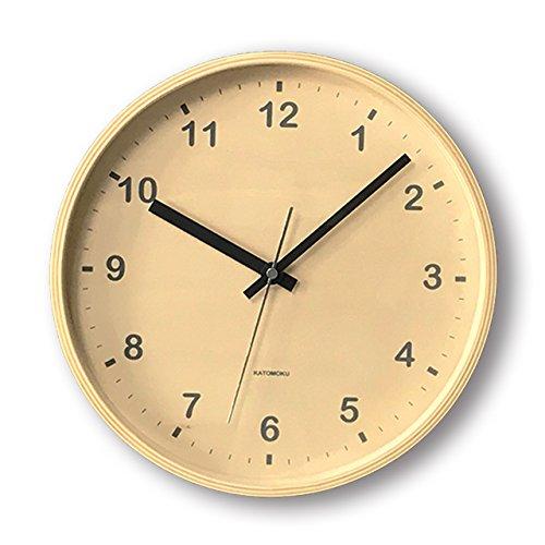 KATOMOKU plywood wall clock ナチュラル スイープ(連続秒針) km-34M φ252mm B00WS26RMI