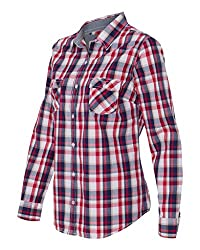 Weatherproof - Vintage Womens Plaid Long Sleeve Shirt