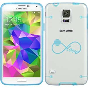 Light Blue Samsung Galaxy Ultra Thin Transparent Clear Hard TPU Case Cover Infinity Infinite Love for Baseball Softball (Light Blue for S3)