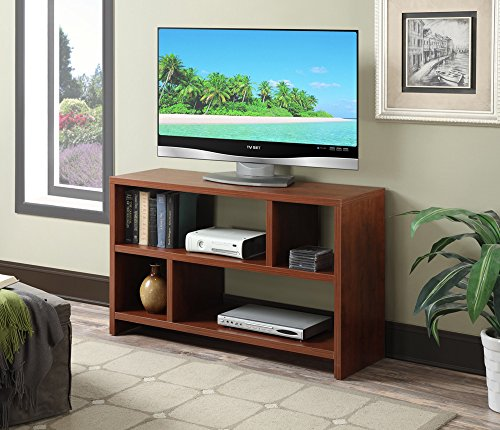 Convenience Concepts Designs2go Northfield Tv Stand Console Cherry Nearby Pilgrims KnobEasy Assembly Tools Provided4 Spacious