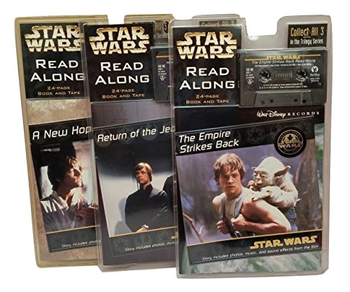 Star Wars Complete Trilogy Series Read Along Walt Disney Records A New Hope, The Empire Strikes Back, Return Of The Jedi Audio Tape Books (Star Wars Read Along Cassette)