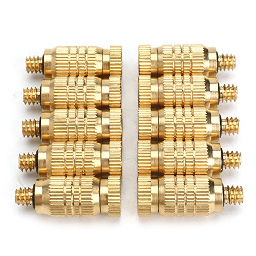 10Pcs 4mm Male Threaded Brass Misting Fogging Nozzle Spray Sprinkler Head Irrigation Cooling by Ologymart (Image #1)