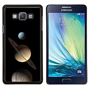 "Be-Star Único Patrón Plástico Duro Fundas Cover Cubre Hard Case Cover Para Samsung Galaxy A7 / SM-A700 ( Saturno Planetas Azul Amarillo Espacio Cosmos"" )"