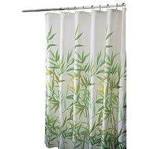 InterDesign Anzu Shower Curtain, Green, 72-Inch by 72-Inch