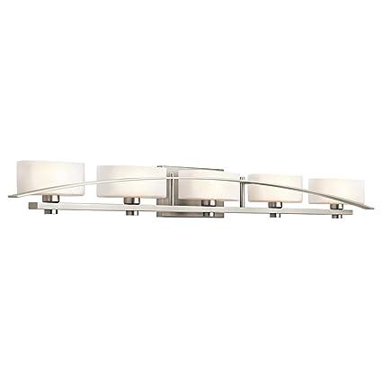 Kichler NI Five Light Bath Vanity Lighting Fixtures Amazoncom - Five light bathroom vanity light