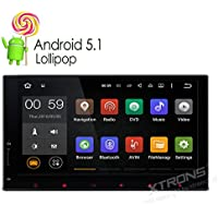 XTRONS Double 2 Din 6.95 Android 5.1 Lollipop Quad-Core 64-Bit Capacitive Touch Screen Car Stereo Radio GPS Bluetooth 1080P Video Wifi Screen Mirroring Function OBD2 Built-in DAB+ Tuner Without DVD