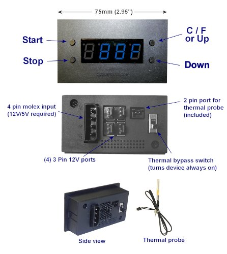 - Coolerguys Programmable Thermal Fan Controller with LED Display